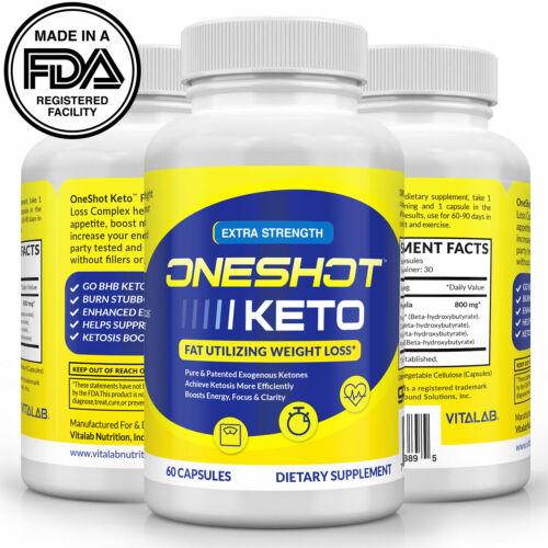 Keto One Shot - Weight Loss Pills Supplement Keto Diet Fat Burner 60 Capsules