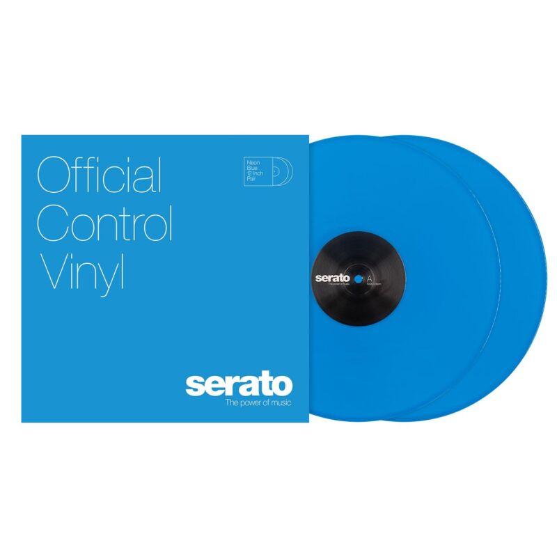 Serato DJ NEON BLUE SCV-NS-BLU-12, 12 Inch Serato Control Vinyl