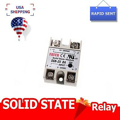 Ssr-25da Solid State Relay 25a Output 24-380v Dc-ac Pid Temp Controller New
