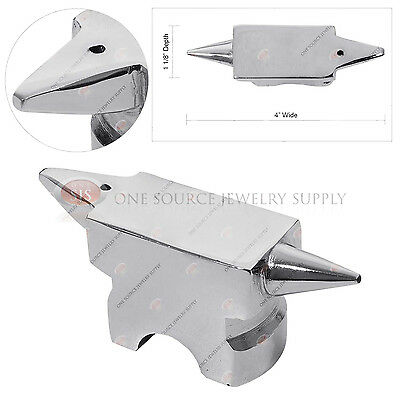 Double Horn Forged Anvil 420 Gram Steel Metalworking Tool...