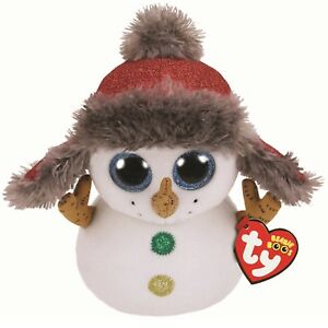 Ty Beanie Babies 36410 Boos Buttons the Christmas Snowman Boo Buddy