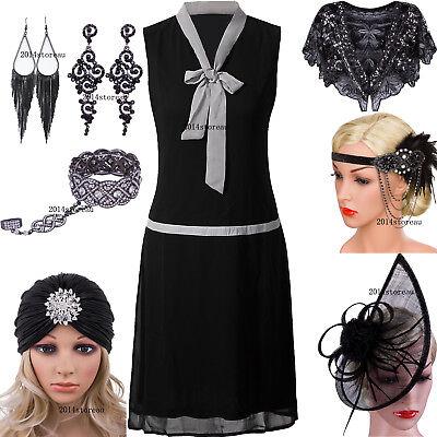 Roaring 20s Great Gatsby Dresses Womens 1920s Flapper Dress V Neck Evening Gowns - Roaring 20 Dresses