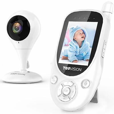 TOPVISION Baby Monitor, 2.4GHz Wireless Video Monitor with Night Vision, Two-Way