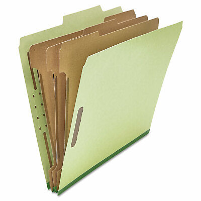 Universal Pressboard Classification Folder Letter Eight-section Green 10box