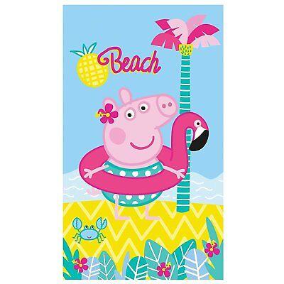 Peppa Pig Wutz Beach Mädchen Badetuch / Strandtuch / Handtuch 70x120 cm 100% BW (Peppa Pig Beach)
