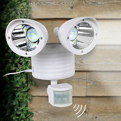 White Solar Powered Motion Sensor Light 22 SMD LED Garage Ou