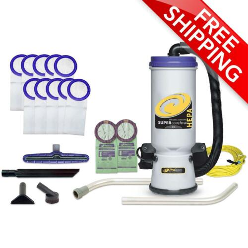 ProTeam® 10 Qt. Super CoachVac HEPA Backpack Vac w/ Wand Kit & 12 Bags 107109