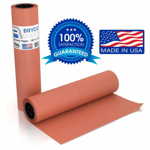 Pink Kraft Butcher Paper Roll - 18 Inch x 175 Feet (2100 Inch)