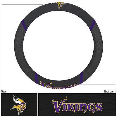 Football Minnesota Vikings Embroidered Mesh Steering Wheel Cover 14.5