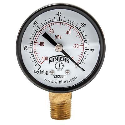 """Winters PEM Series Steel Dual Scale Economy Pressure Gauge, 30""""Hg Vacuum/kpa, 2"""" for sale  Canada"""