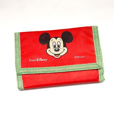 Retro Vintage Mickey Mouse Red Green Euro Disney Wallet Purse