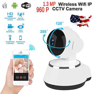 Wireless 960P Pan Tilt Network Home Cctv Ip Camera Ir Night Vision Wifi Webcam
