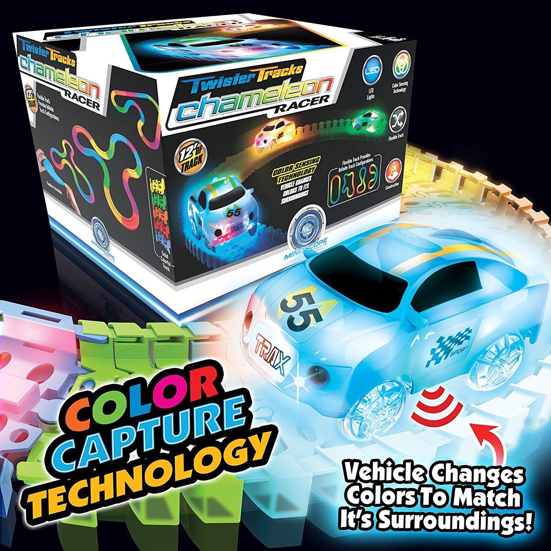 Купить Magic Track Mindscope Chameleon Color Sensing Twister Tracks Glow in the Dark Up