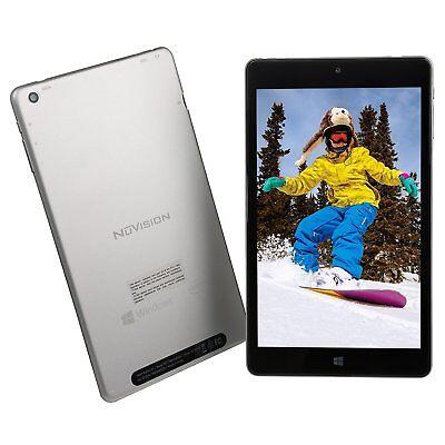 New NuVision 8'' Full HD Tablet Atom x5-Z8300 Quad-Core 2GB RAM 32GB SSD Win10