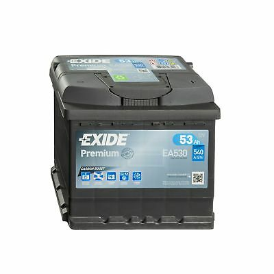 Versorgung Caddy (Exide Premium CARBON BOOST EA530 12V 53Ah Batterie Autobatterie Starterbatterie)