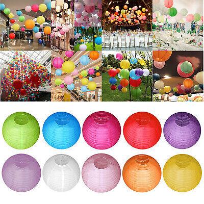 4/6/8/10 inch DIY Round Paper Lantern Ball Lamp Light Wedding Party Xmas Decor ()