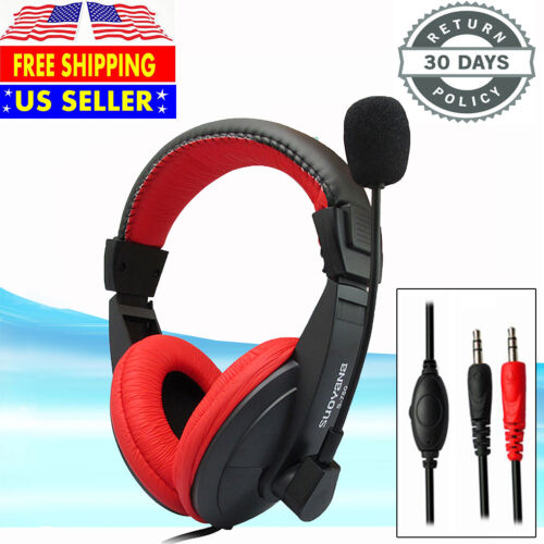 Wired Stereo Bass Surround Gaming Headset Headphone for PS4 New Xbox One PC +Mic
