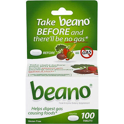 - Beano Food Enzyme Dietary Supplement, Tablets, 100 ea