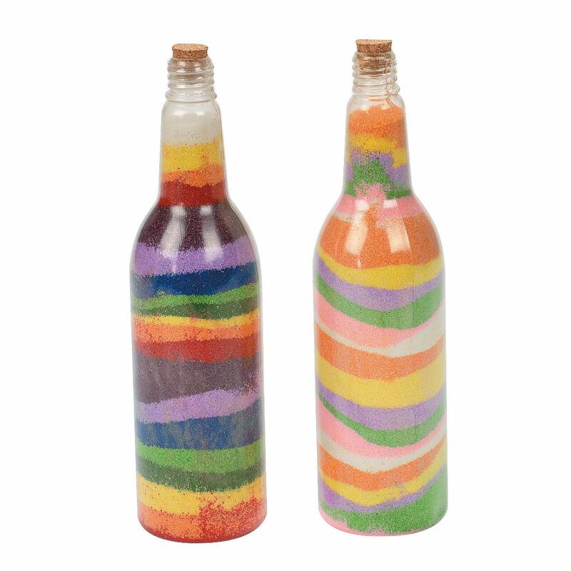 Tropical Sand Art Bottles - Craft Supplies - 12 Pieces