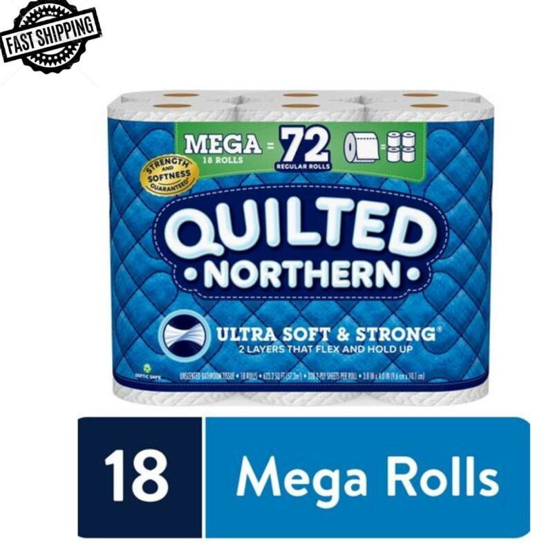 Quilted Northern Ultra Soft And Strong Toilet Paper 18 Mega Rolls 72 Regular