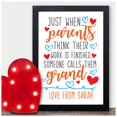 PERSONALISED Birthday Gifts for Grandparents Nanny Grandad Christmas Presents ()