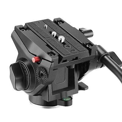 Neewer Heavy Duty Video Camera Tripod Fluid Drag Pan Head with Sliding Plate