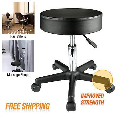 Adjustable Swivel Hydraulic Leather Salon Stool Rolling Seat Office Chair