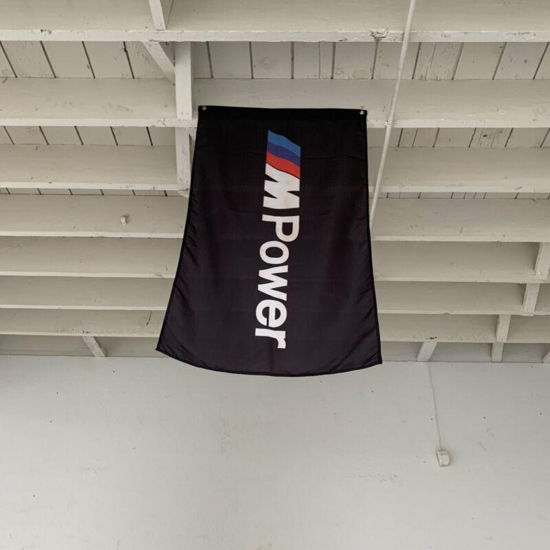 BMW M-Power Black Shop Flag Garage Banner M5 Hamann F10 5.0L Bimmer Hartge E39