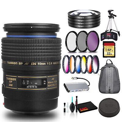 Tamron SP 90mm f/2.8 Di Macro Autofocus Lens for Canon EOS Includes Cleaning
