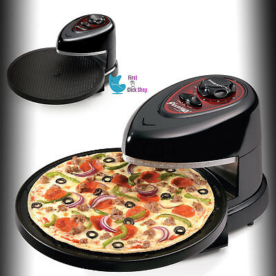Rotating Pizza Oven Baker Pizzazz Wings Maker Non Stick Cooker Fast And Easy Way