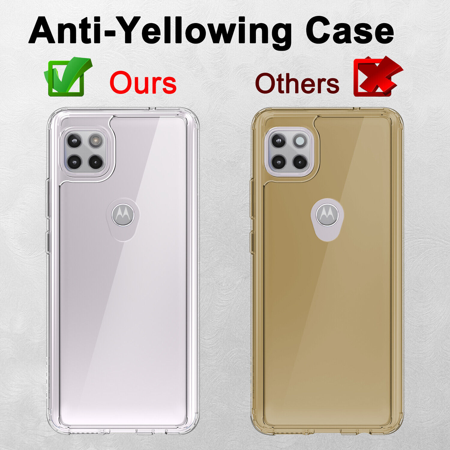 For Motorola Moto One 5G Ace Clear Case Shockproof Slim Cover / Screen Protector Cases, Covers & Skins