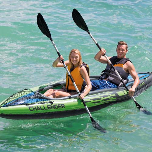 New Intex Challenger K2 Inflatable Kayak 2 Person Raft Boat Pump Paddles 68306EP