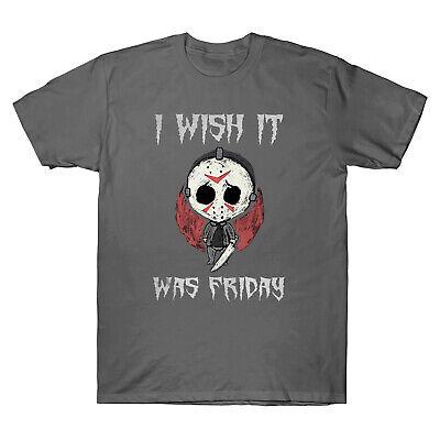 Friday The 13th Jason Voorhees I Wish It Was Friday Halloween Retro Men T-Shirt
