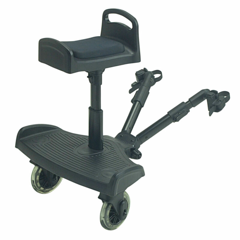 Ride On Buggy Board with Saddle For Joie Stroller Buggy Pram - Black