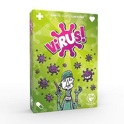 Tranjis Games. Juego de cartas Virus. Edición Española. 2-6 jugadores. + 8...