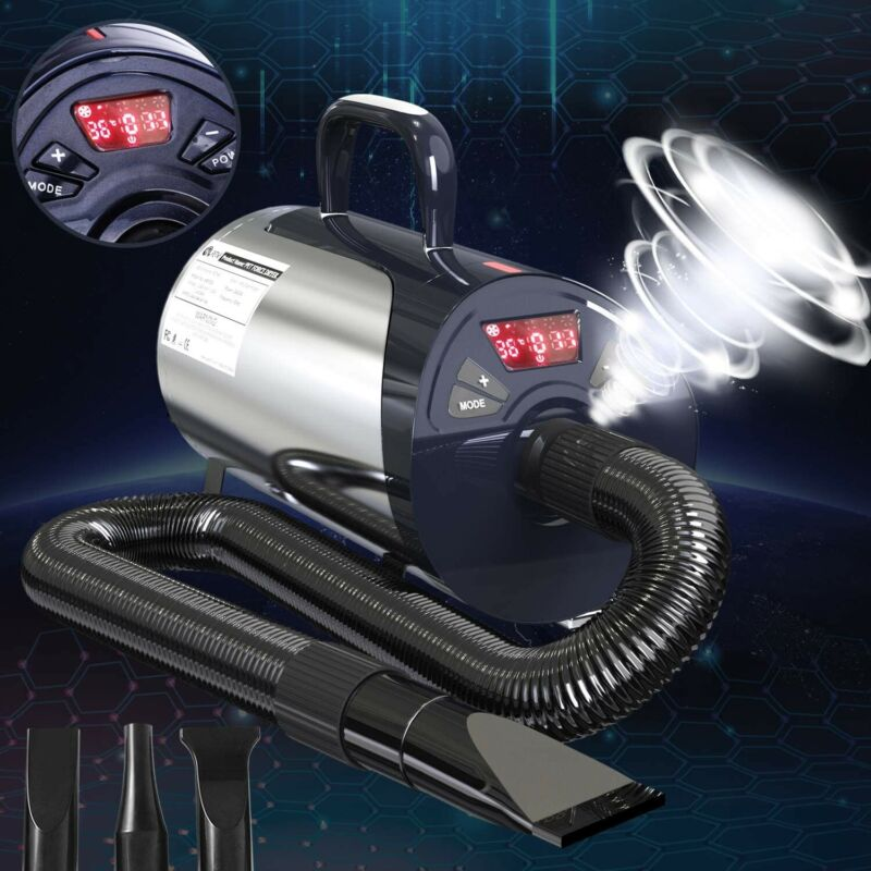 Pesto Newest Dog Dryer Professional Grooming Dog Hair Dryer with LED Screen Dog