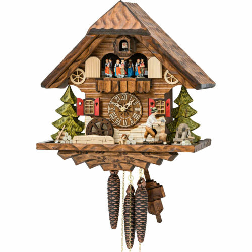 Original German Cuckoo Clock 1-day-movement Chalet-Style 34cm by Hekas