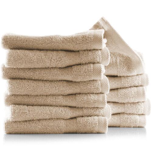 12 Pack washcloth Towel Set 100% Cotton Soft Luxury Wash Clo