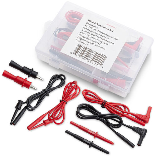WGGE WG-012 Electronic Test Lead Kit with insulation alligator clips,Multimeters