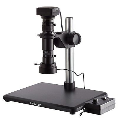 Amscope H1000 .83x-10x Wide-zoom Monocular Inspection Microscope 20mp Usb Came