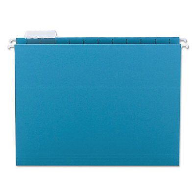 Smead Hanging File Folders 15 Tab 11 Point Stock Letter Teal 25box 64074
