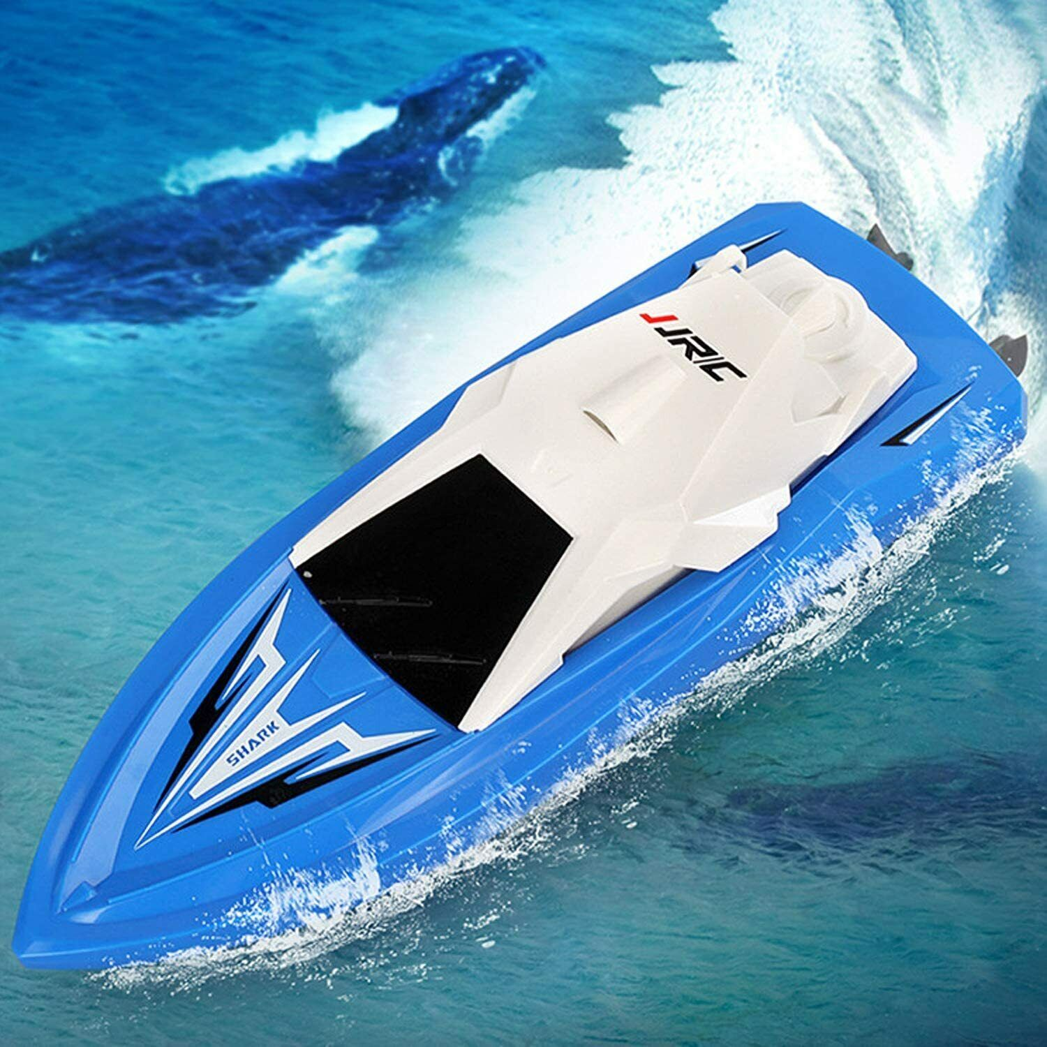 OTTF Racing Boat RC Boat for Kid Adults Innovative High Speed 4 Channel Remote Control Boat for Pool Lake Low Voltage Protection with High-Capacity Battery Gifts for Boys Girls