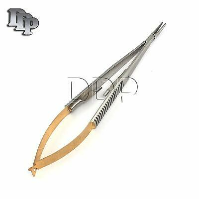 Tc Castroviejo Micro Surgery Needle Holder 9curved Tip W Tungsten Carbide Ins