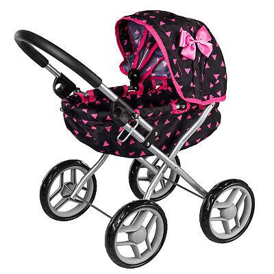 Puppenwagen Puppenkarre Stroller Kinder KP0260R Spielzeug Puppe