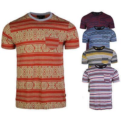 Men's Casual Printed Regular fit Fitness Crew Neck Short Sleeve Pocket T-shirts Casual Crew Neck Design