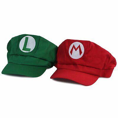 Landisun Costume Super Mario Bros Luigi Hat Anime Adult Unisex Cosplay Cap Set](Luigi Mario Costume)