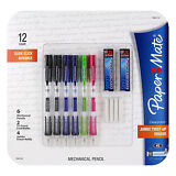 Paper Mate Clear Point Mechanical Pencils, 0.7mm Assorted, Pack of 6 Starter Kit