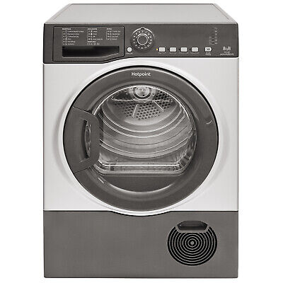 Hotpoint TCFS83BGG Condenser Dryer, 8 Kg Drying Capacity - Graphite