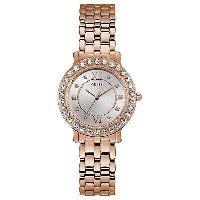 Guess Women's Rose Gold Tone Stainless Steel Blush Quartz Watch W1062L3