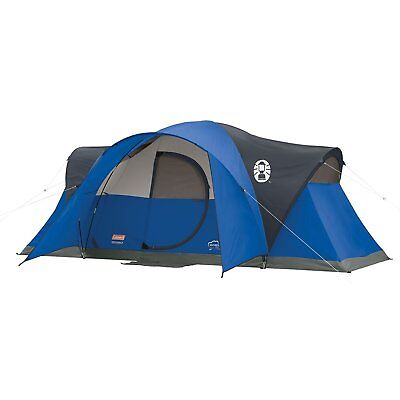 Coleman Montana 8-Person Tent Blue Camping Hunting Fishing Solid Hinged Door (Coleman Montana 6 Tent)